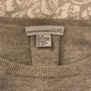 Central Park West LUXE grey cashmere sweater